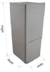 fridge/freezer 201 liter bn245